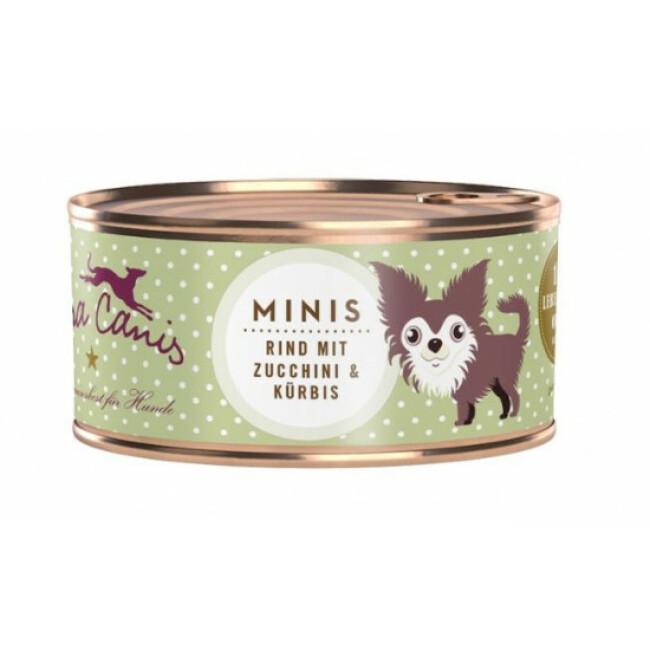 Pâtée sans céréales pour petit chien au boeuf Terra Canis Mini