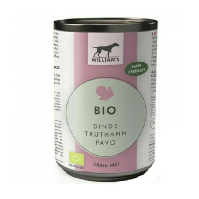 Pâtée William's Bio sans céréales pour chien