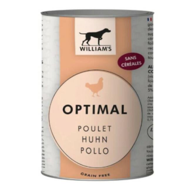 Pâtée William's Optimal sans céréales au poulet pour chien