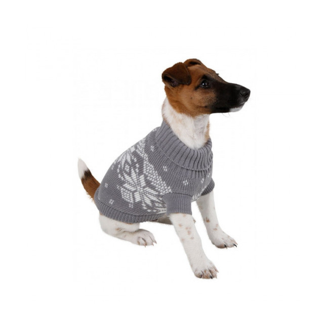 Pull-over pour chien Lillehammer Kerbl Gris Blanc
