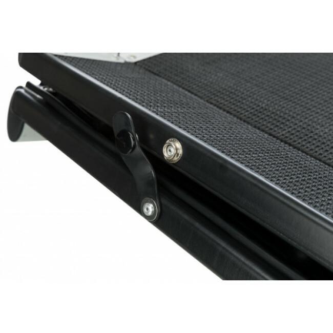 Rampe d'accès pliable en aluminium et caoutchouc Trixie