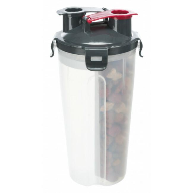 Récipient avec compartiments pour eau et nourriture