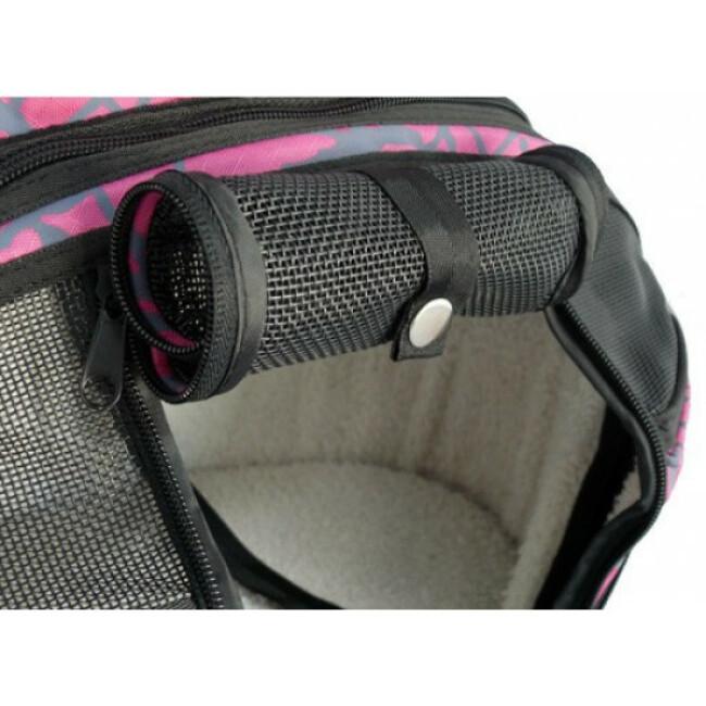 Sac 2 en 1 Shopper de luxe Rose Flamingo couchage et transport