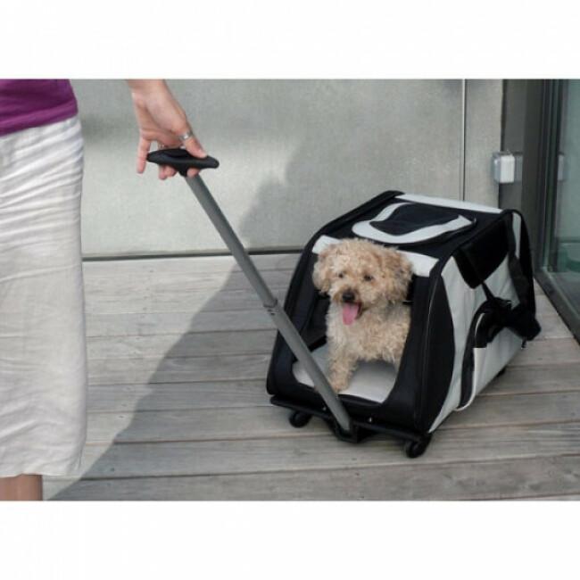 Sac de transport Trolley à 4 roulettes pour chien et chat Trixie