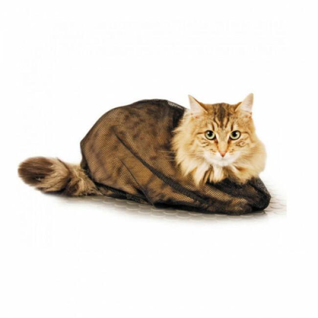 Sac filet de toilettage et soin pour chat