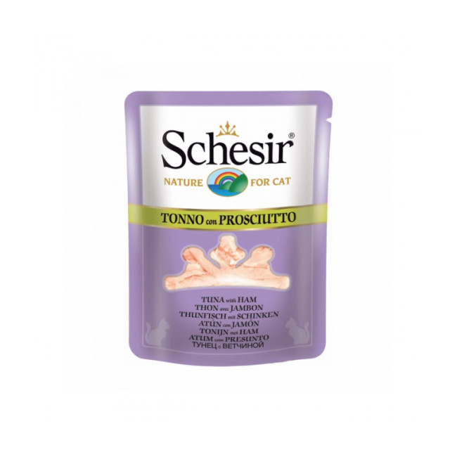Sachet fraîcheur bouillon de cuisson pour chat Schesir - Pochon de 70 g