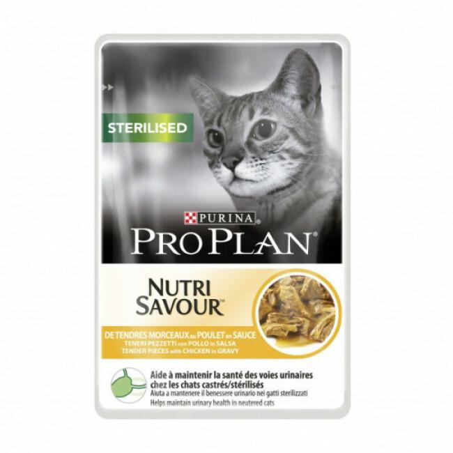 Sachets pour chat stérilisé Pro Plan poulet