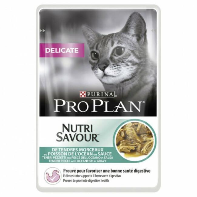 Sachets pour chats Pro Plan adulte Delicate poisson