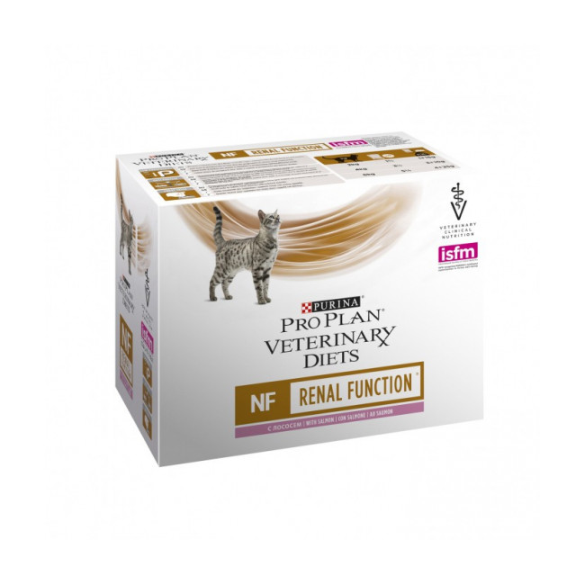Sachets Pro Plan Veterinary Diet NF Renal Function pour chats Saumon 10 sachets 85 g