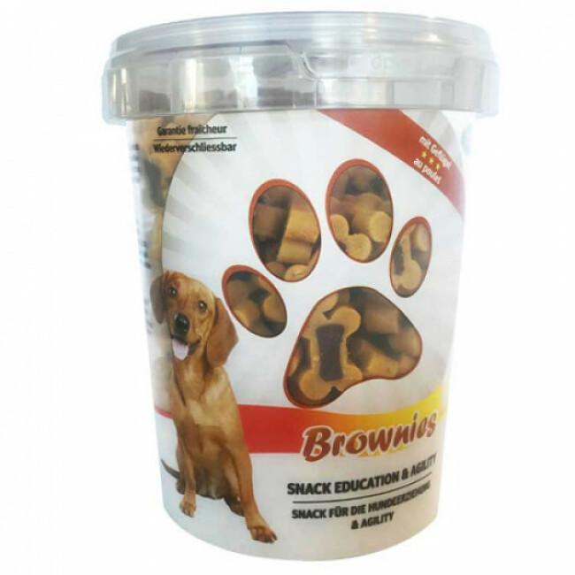 Seau de friandises pour chien Bubi Snack Brownies saveur poulet 300 g