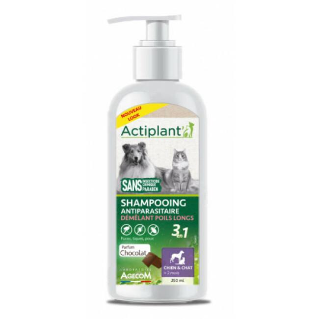 Shampoing antiparasitaire 2 en 1 pour chien et chat Agecom flacon de 250 ml