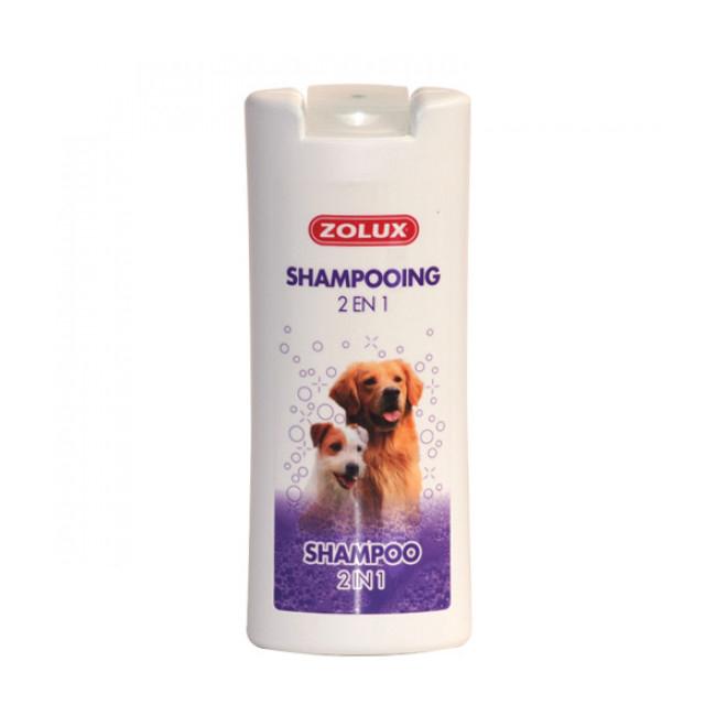 Shampoing Doggy Pro ZOLUX 2 en 1 pour faciliter brossage du pelage de chien et chat