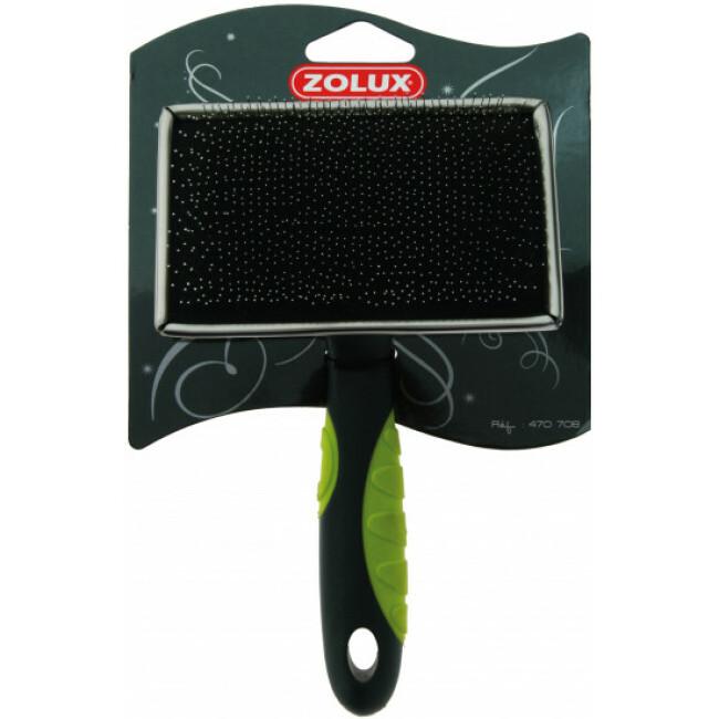 Slicker en métal avec picots souples pour chien Zolux