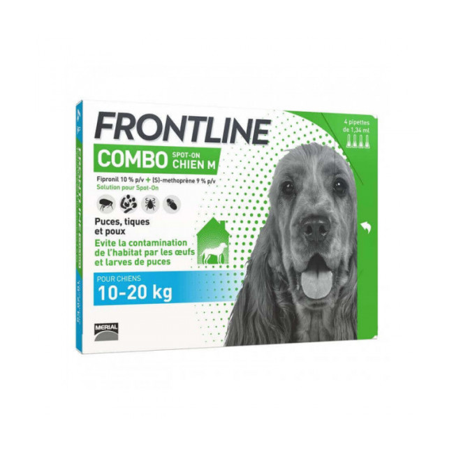 Soin antiparasitaire pour chien Combo Spot On Frontline