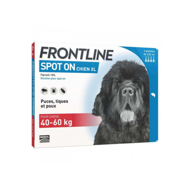 Soin antiparasitaire pour chiens Spot On Frontline