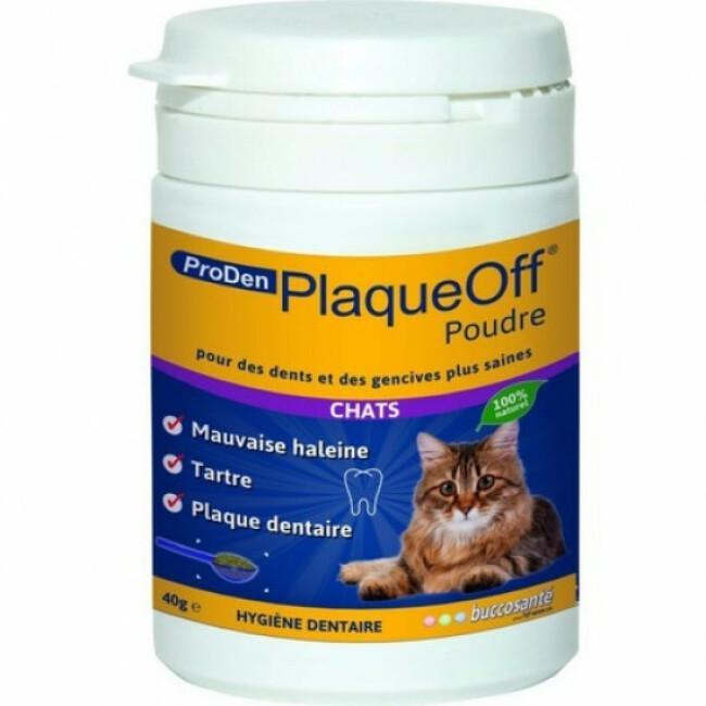 Soin dentaire PlaqueOff ProDen en poudre pour chat