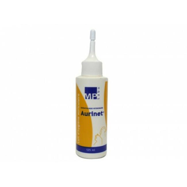 Soin et hygiène auriculaire pour chiens et chats Aurinet flacon de 125 ml