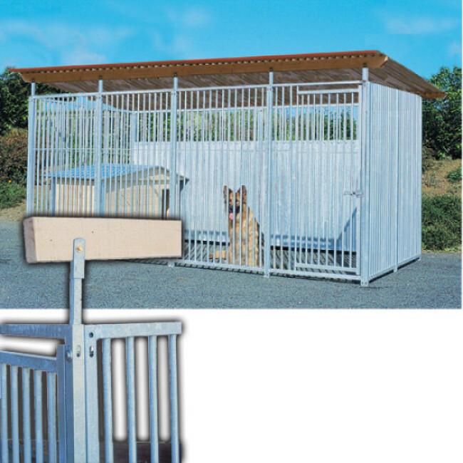 Support de toiture de chenil en kit pour abri chien