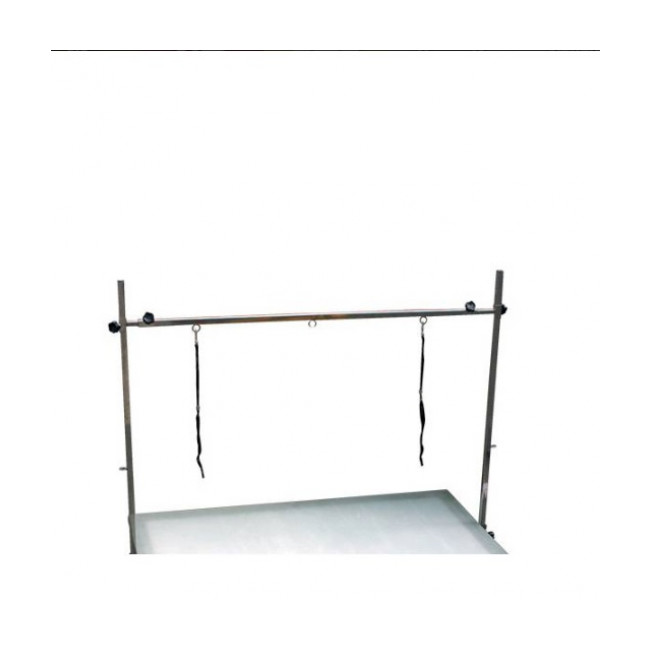 Table de toilettage à vérin mécanique avec potences Pluton Méca