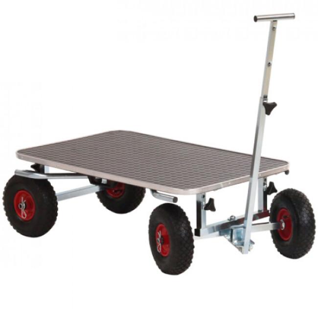 Table de toilettage et chariot de transport pour exposition de chien et chat