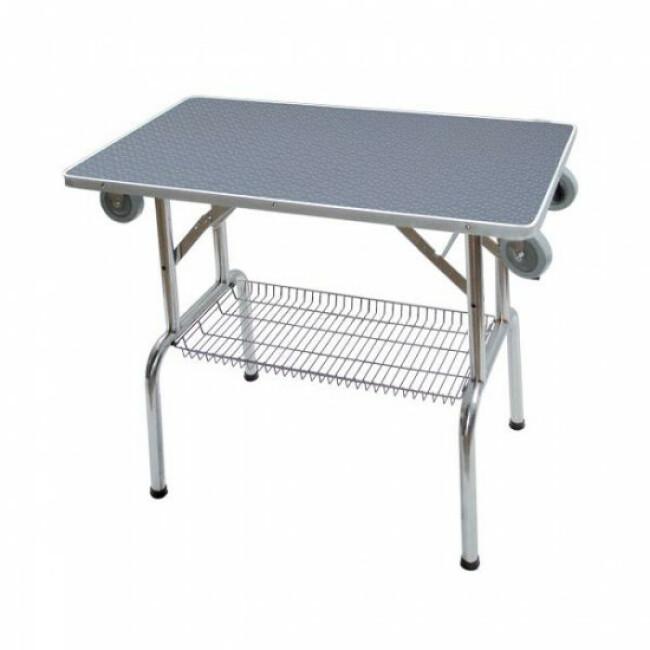 Table de toilettage pliante en acier inoxydable