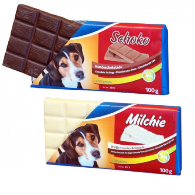 Tablette de chocolat Shoko et Milkie pour chien