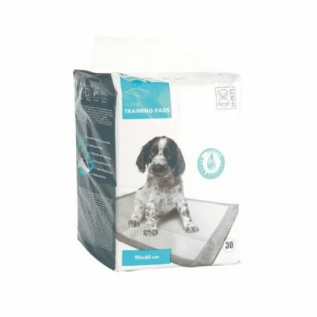 Tapis éducateur pour chiot M-Pets blanc 90 cm x 60 cm