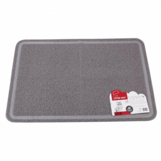 Tapis de litière rectangulaire gris 60 cm x 89 cm M-Pets