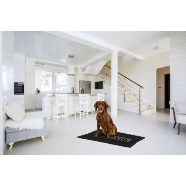 Tapis microfibres absorbant Zolux gris pour chien