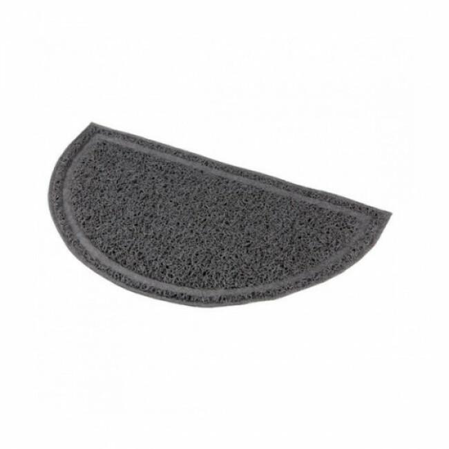 Tapis semi-circulaire en plastique pour bac à litière de chat Trixie gris