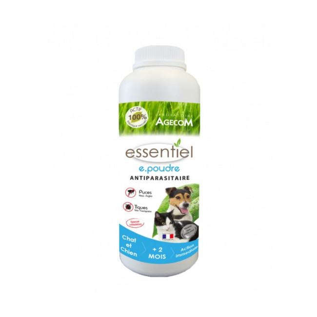 Traitement antiparasitaire en poudre pour chien et chat Essential flacon de 300 g