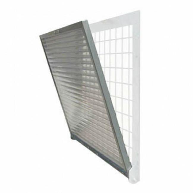 Volet en plexiglas pour fenêtre de chenil