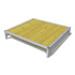 Image 1 - Banc de couchage en bois avec cadre acier pour chien