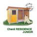 Image 1 - Chenil en bois éleveur résidence junior pour chien & chat