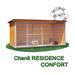 Image 1 - Chenil en bois résidence confort pour chien & chat