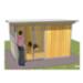 Image 2 - Chenil pour chien en bois avec façade grillagée Confort