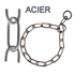 Image 1 - Collier étrangleur pour chien chaîne éco