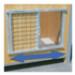Image 1 - Porte coulissante grillagée pour niche en bois