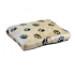 Image 3 - Coussin gonflant tissu fourrure beige T60 pour lit et canapé en osier