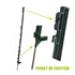 Image 1 - Piquet de fixation pour filet et clôture H : 1.42 m