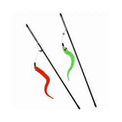 Canne à pêche pour chat avec jouets - longueur 1m