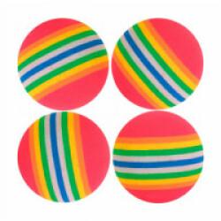 4 Balles pour chats couleur arc-en-ciel Trixie