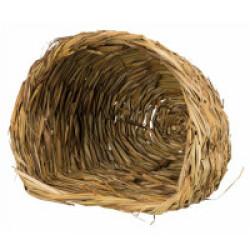 Abri douillet naturel en herbe pour rongeurs - 30 × 26 × 26 cm