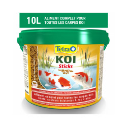 Alimentation Tetra Pond Koï Sticks pour poissons de bassin Contenance 10 litres