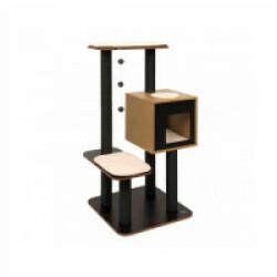Arbre à chat noir Top hauteur 120 cm Vesper