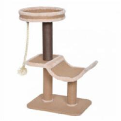 Arbre à chat 2 étages avec plateforme, griffoirs et corde Basil - hauteur 69 cm