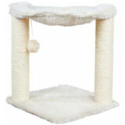 Arbre à chat en peluche et sisal avec jouet Baza - hauteur 50 cm