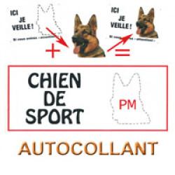 Autocollant chien de sport personnalisable