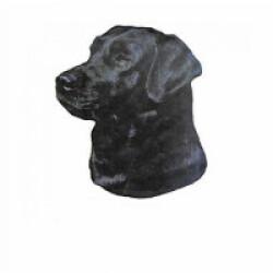 Autocollant race Labrador Noir 7 cm - Lot de 4