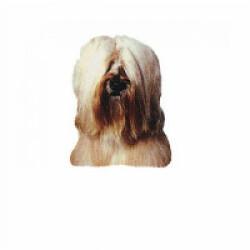Autocollant race Terrier du Tibet Crème 7 cm - Lot de 4